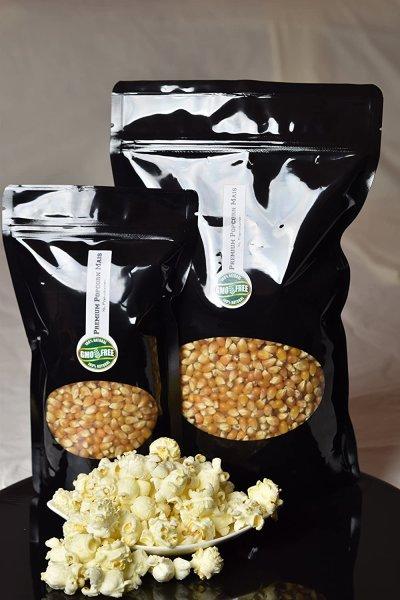 Premium Popcorn Kinopopcorn 1 Kg frische Beutel XL 1:46 Popvolumen im wieder verschließbarem Beutel GMO Frei