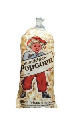 Popcorntüte für 125 g 100 Stück Lausbub transparent Zucker Polybeutel 2,5 Liter 17 x 44 cm