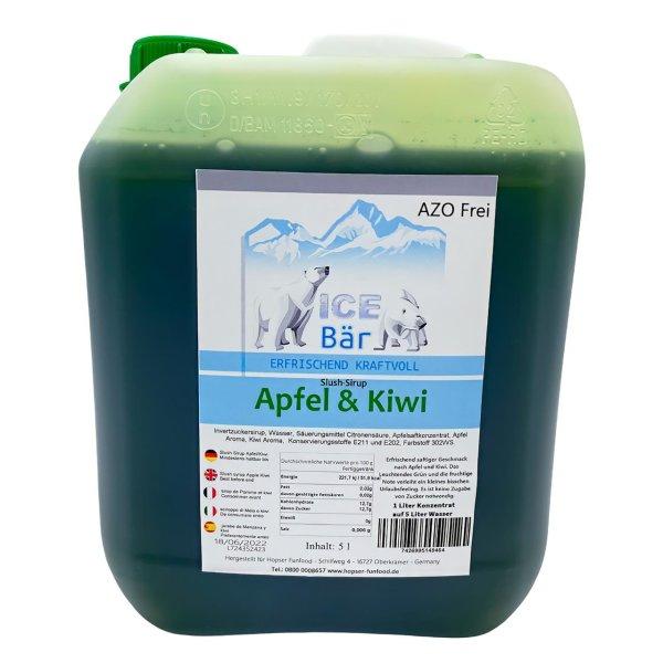 ICE BÄR Slush Sirup Konzentrat AZO FREI Apfel Kiwi 5 Liter